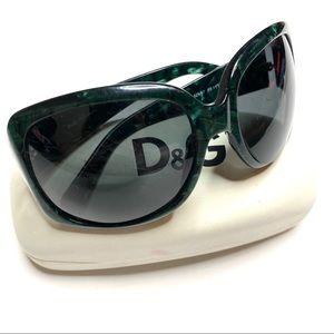 D&G Havana Green Tortoise Sunglasses DG 3021